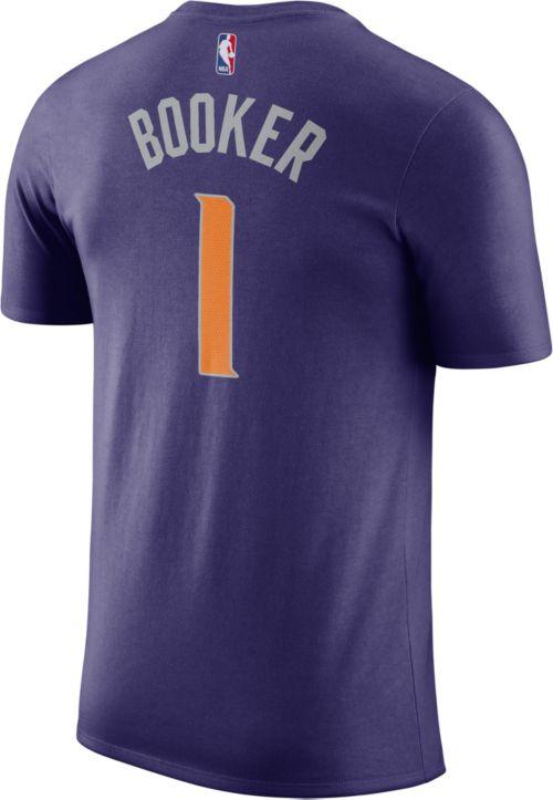 47ed7d2c9c96 Nike Men s Phoenix Suns Devin Booker  1 Dri-FIT Purple T-Shirt.  noImageFound. Previous. 1. 2. 3