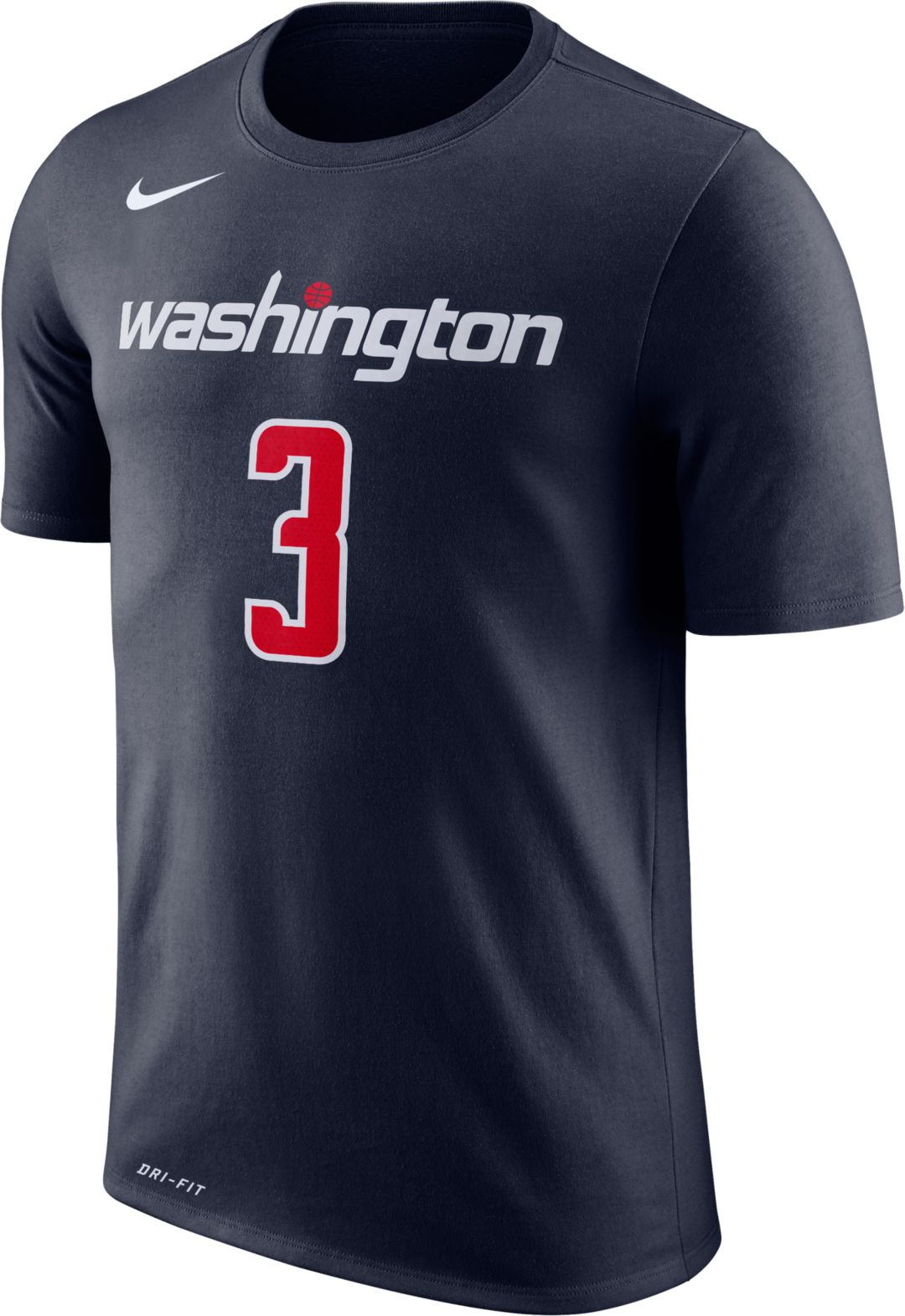 new product 33937 02105 Nike Men's Washington Wizards Bradley Beal #3 Dri-FIT Navy T-Shirt