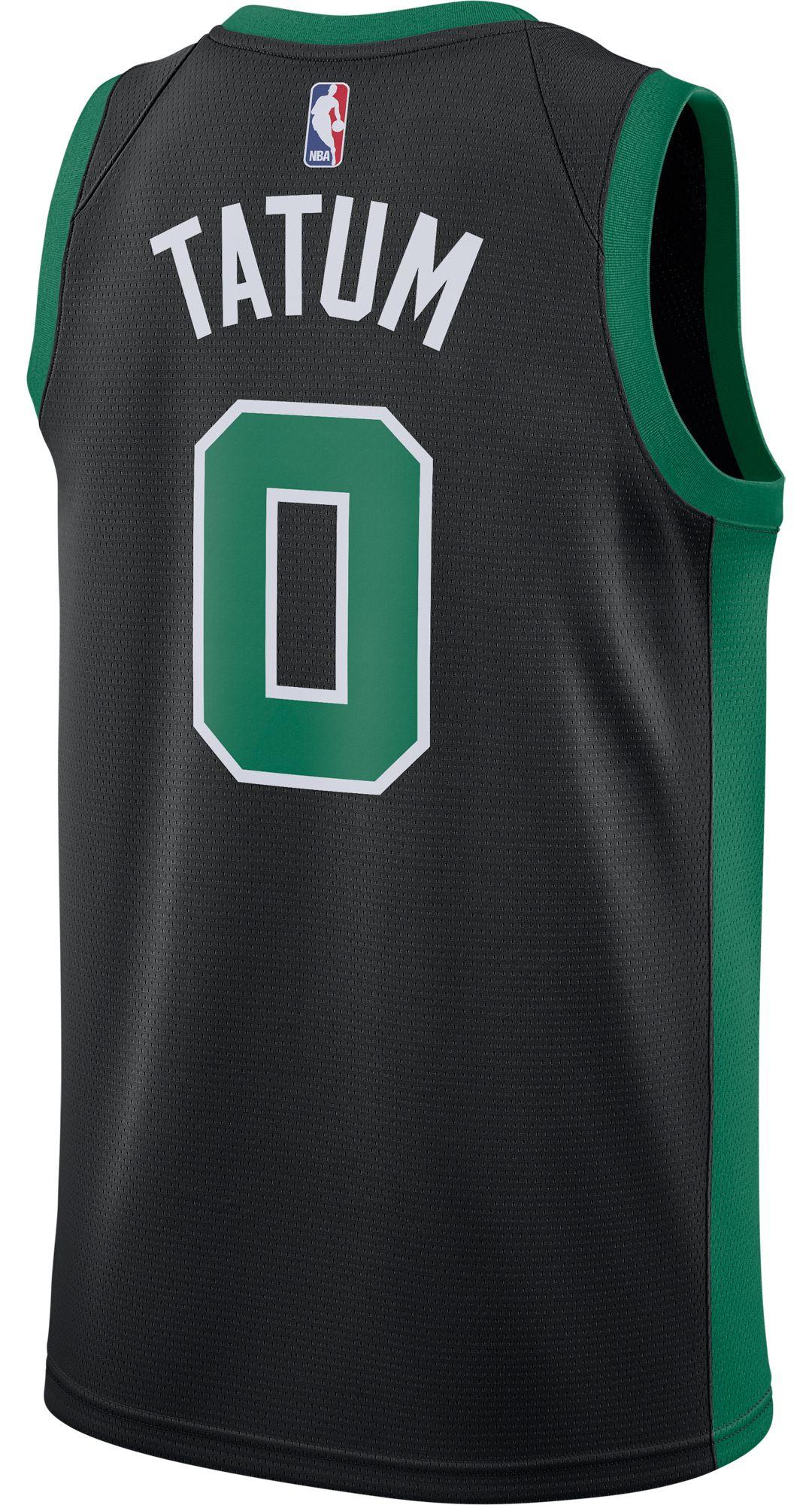 huge discount a1001 c4afd Nike Men's Boston Celtics Jayson Tatum #0 Black Dri-FIT Swingman Jersey