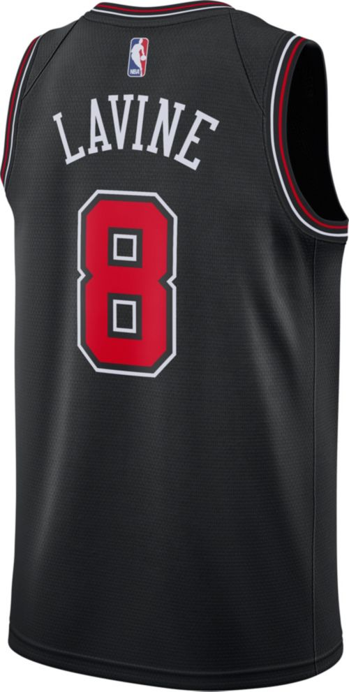 Nike Men s Chicago Bulls Zach LaVine  8 Black Dri-FIT Swingman Jersey.  noImageFound. Previous. 1. 2. 3 f219397ea