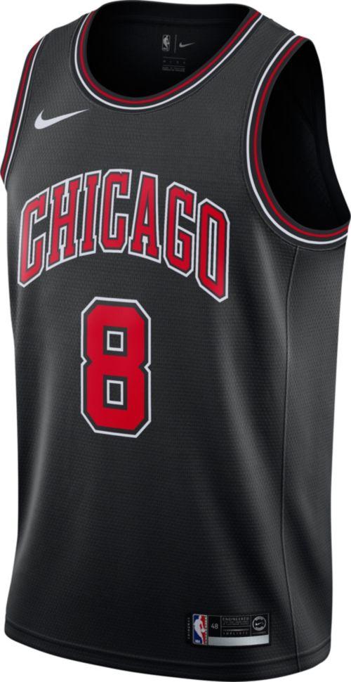 Nike Men s Chicago Bulls Zach LaVine  8 Black Dri-FIT Swingman Jersey 0b35cb595