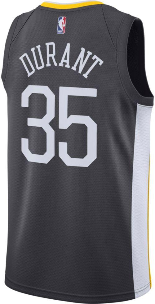 129065afe7f Nike Men s Golden State Warriors Kevin Durant  35 Grey Dri-FIT Swingman  Jersey. noImageFound. Previous. 1. 2. 3