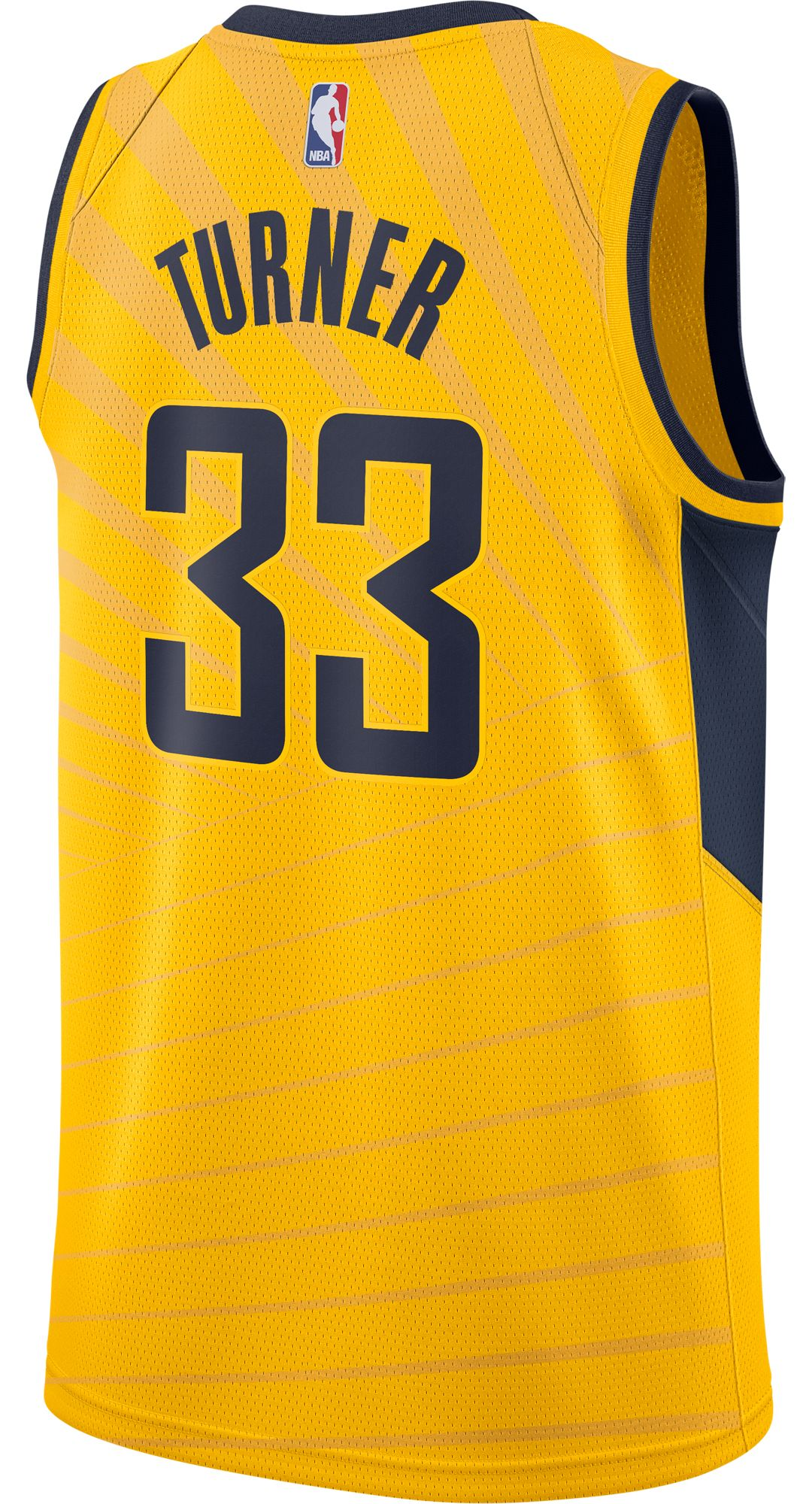 outlet store 81dd3 f6d4b Nike Men's Indiana Pacers Myles Turner #33 Gold Dri-FIT Swingman Jersey