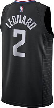 Nike Men's Los Angeles Clippers Kawhi Leonard #2 Black Dri-FIT Statement Swingman Jersey product image