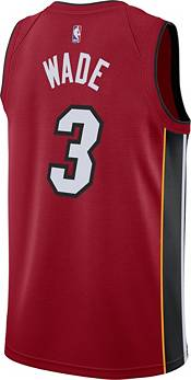 Nike Men's Miami Heat Dwyane Wade #3 Red Dri-FIT Statement Swingman Jersey product image