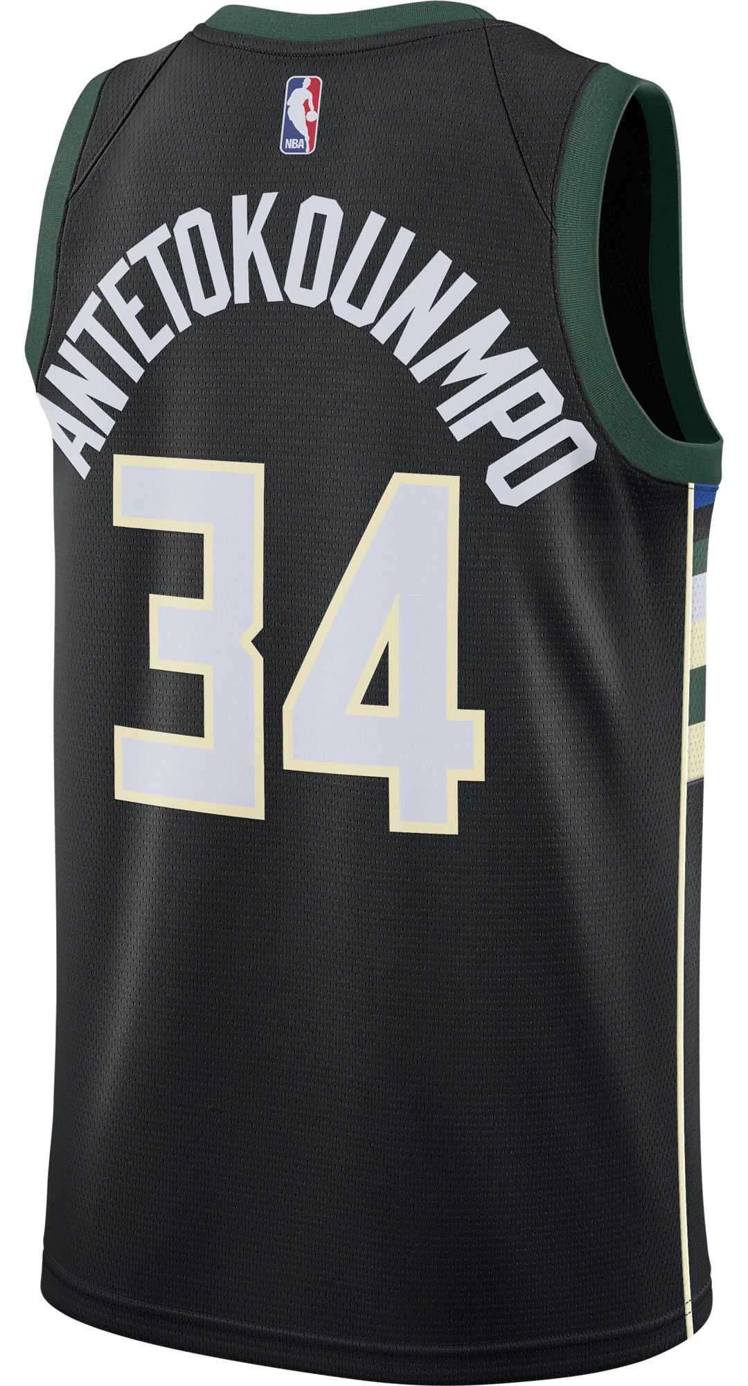 716ade2e5 Nike Men's Milwaukee Bucks Giannis Antetokounmpo #34 Black Dri-FIT ...