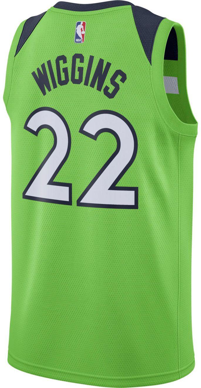 Nike Men S Minnesota Timberwolves Andrew Wiggins 22 Green Dri Fit