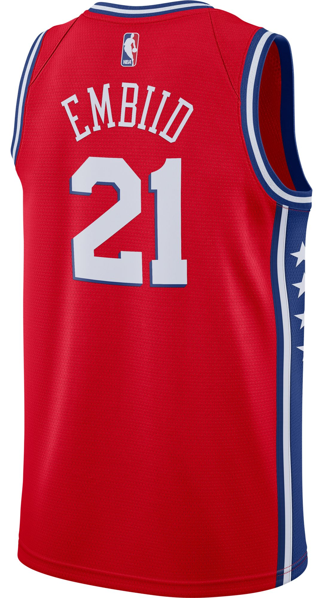 official photos 6455c a3e69 Nike Men's Philadelphia 76ers Joel Embiid #21 Red Dri-FIT Swingman Jersey