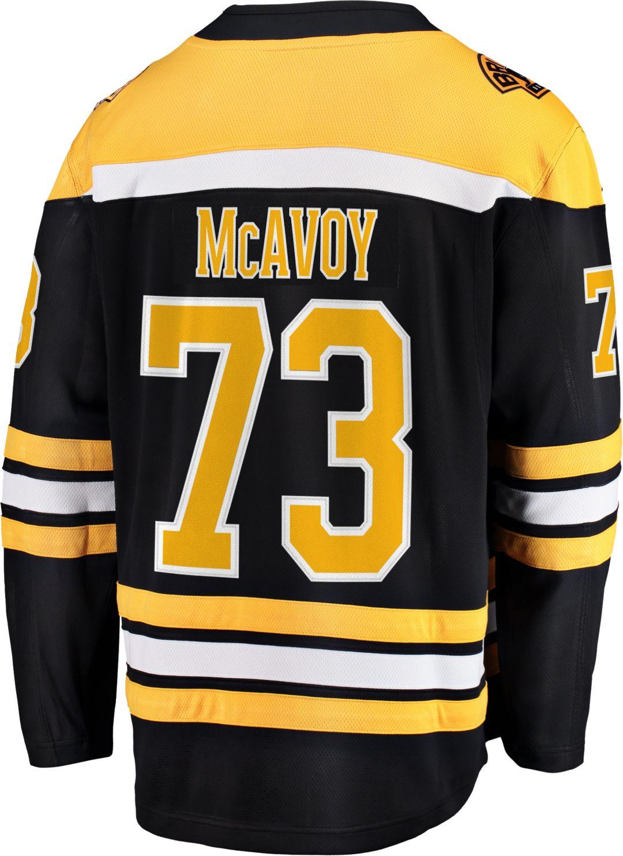 promo code 3b932 49e18 NHL Men's Boston Bruins Charlie McAvoy #73 Breakaway Home Replica Jersey