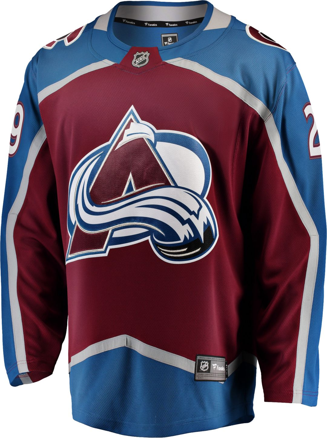 new arrival f4770 e12ef NHL Men's Colorado Avalanche Nathan MacKinnon #29 Breakaway Home Replica  Jersey