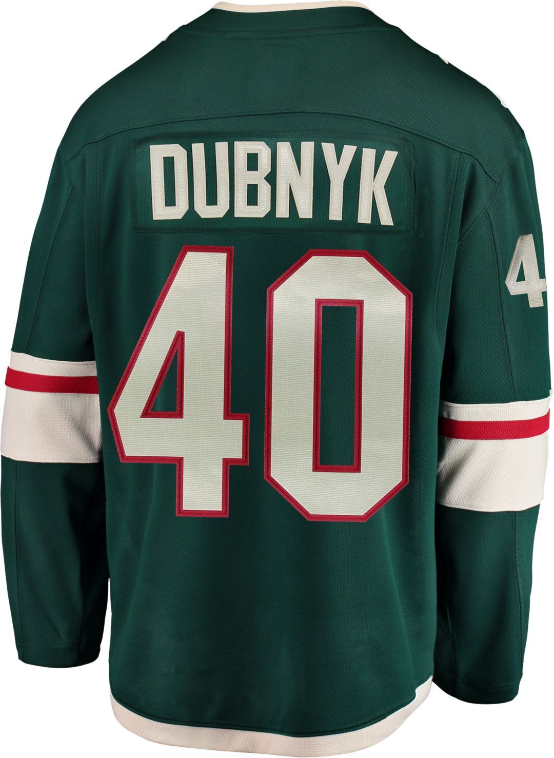 innovative design b73df b9216 NHL Men's Minnesota Wild Devan Dubnyk #40 Breakaway Home Replica Jersey