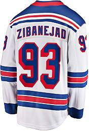 NHL Men's New York Rangers Mika Zibanejad #93 Breakaway Away Replica Jersey product image
