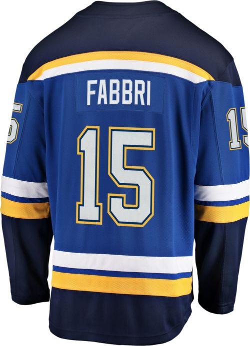 NHL Men s St. Louis Blues Robby Fabbri  15 Breakaway Home Replica Jersey.  noImageFound. Previous. 1. 2. 3 4a11f750b