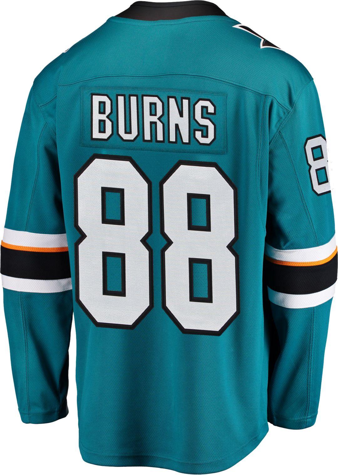 new style dbfe0 ee427 NHL Men's San Jose Sharks Brent Burns #88 Breakaway Home Replica Jersey