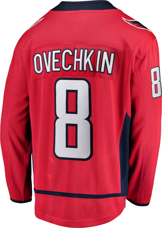competitive price f937b 14eab NHL Men's Washington Capitals Alexander Ovechkin #8 Breakaway Home Replica  Jersey