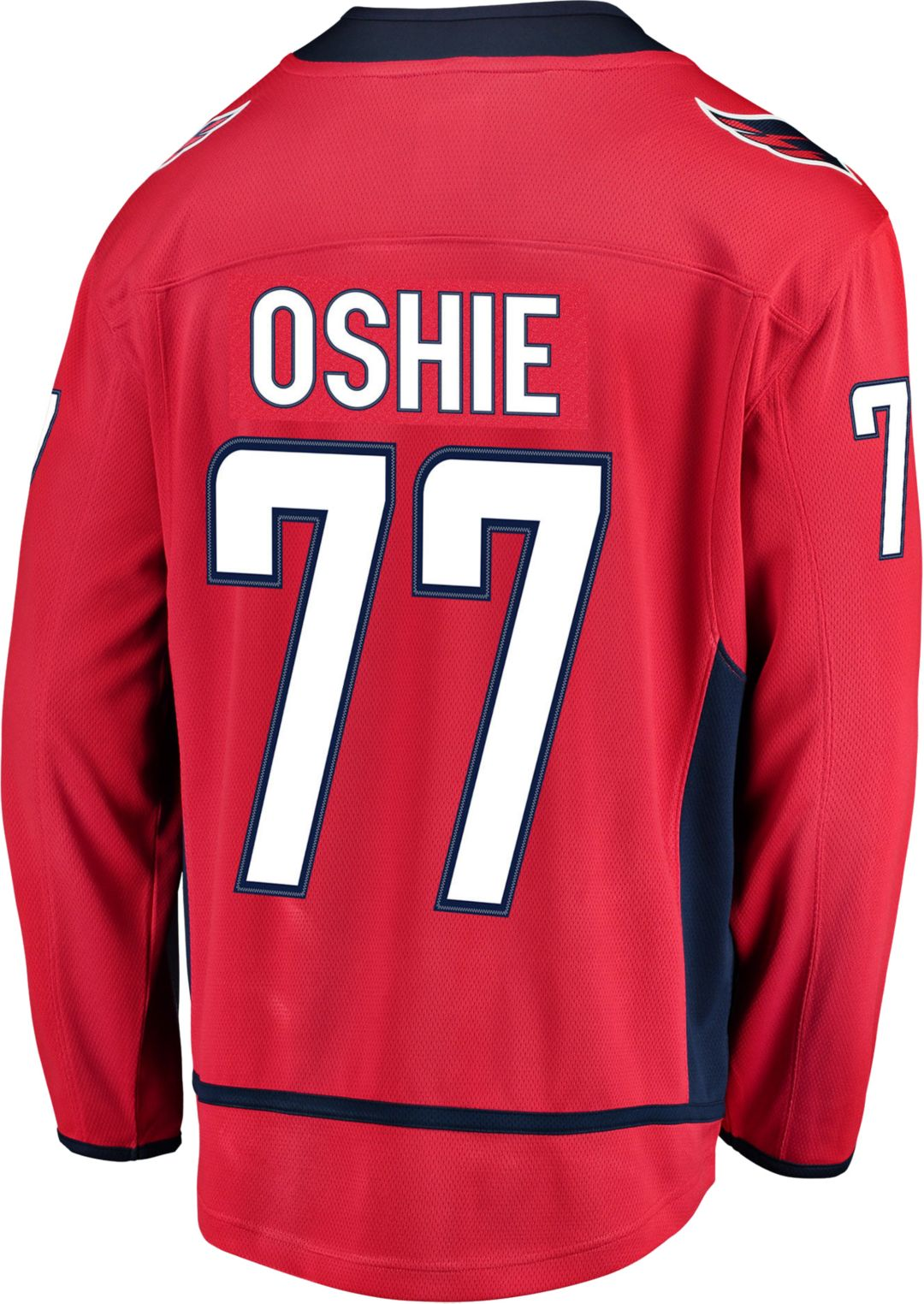 hot sales f8164 dfcc8 NHL Men's Washington Capitals T.J. Oshie #77 Breakaway Home Replica Jersey