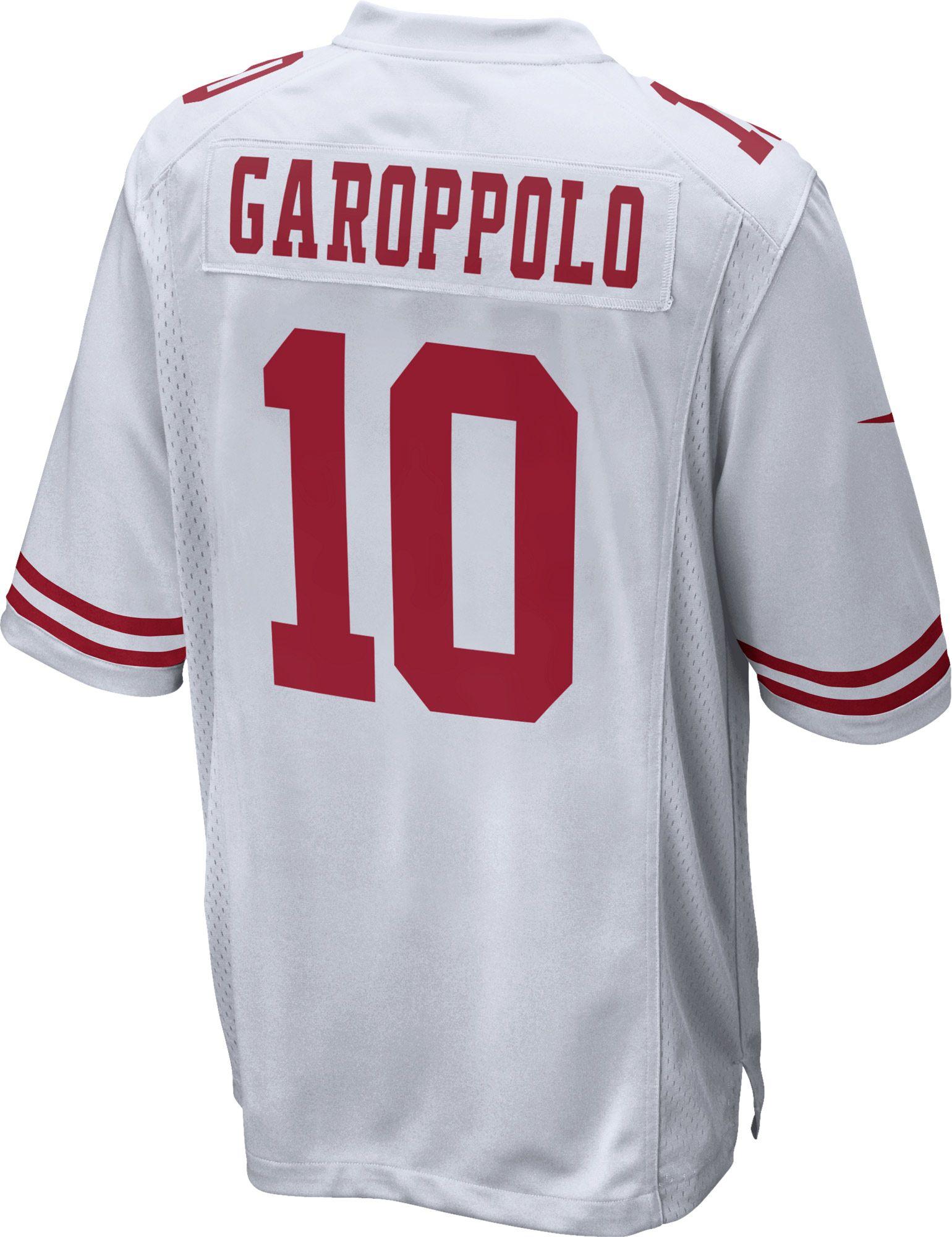 nike men s away game jersey san francisco 49ers jimmy garoppolo 10 rh dickssportinggoods com