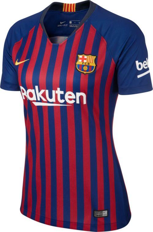 Nike Women s Barcelona FC 2018 Breathe Stadium Home Replica Jersey.  noImageFound. Previous. 1. 2 7cf0618100