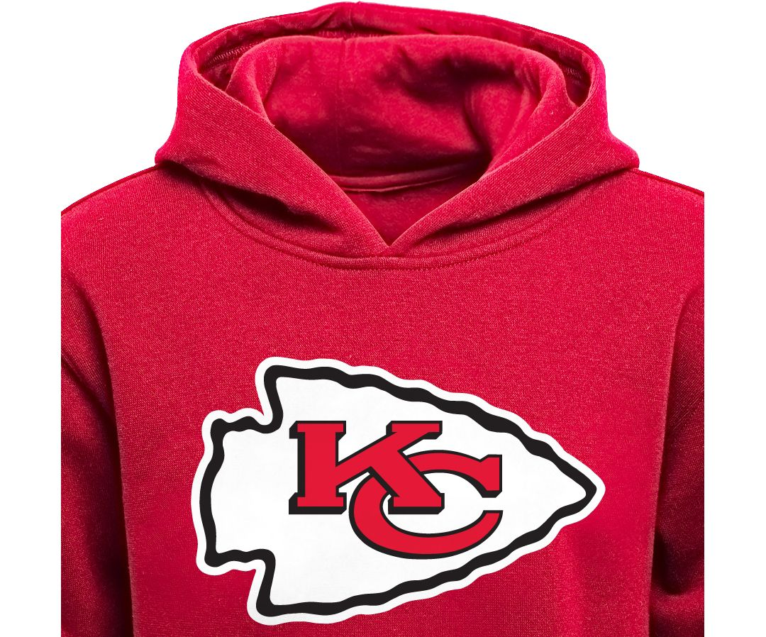 check out 373c5 dc7b1 NFL Team Apparel Youth Kansas City Chiefs Logo Red Hoodie