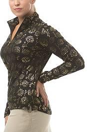 SanSoleil Women's SolShine Foil Print ¼-Zip Golf Pullover product image