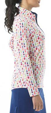 San Soleil Women's SolShine Mock Neck Long Sleeve Golf Shirt product image