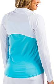 SanSoleil Women's Vented Back Half-Zip Tennis Pullover product image