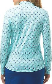 SanSoleil Women's SolCool Printed ¼ Zip Golf Pullover product image