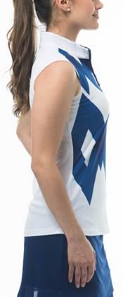 San Soleil Women's Solcool Sleeveless Mock Neck Golf Shirt product image