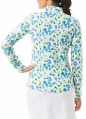 San Soleil Women's SoltekIce Long Sleeve Print Mock Neck Golf Shirt product image