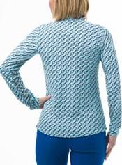 San Soleil Women's Soltekice Long Sleeve Print Mock product image