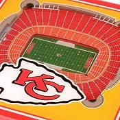 You the Fan Kansas City Chiefs 3D Stadium Views Coaster Set product image
