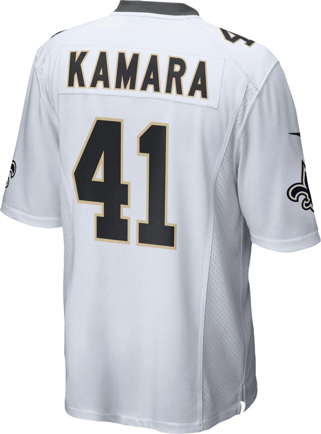 reputable site 8fd94 375ad Nike Men's Away Game Jersey New Orleans Saints Alvin Kamara #41