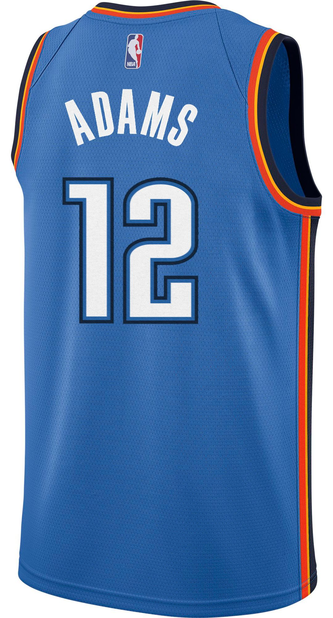 san francisco 5f5cd c9eb2 Nike Men's Oklahoma City Thunder Steven Adams #12 Blue Dri-FIT Swingman  Jersey