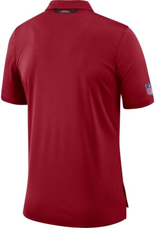 5c4aeeb9a591 Nike Men s Arizona Cardinals Sideline Early Season Red Polo