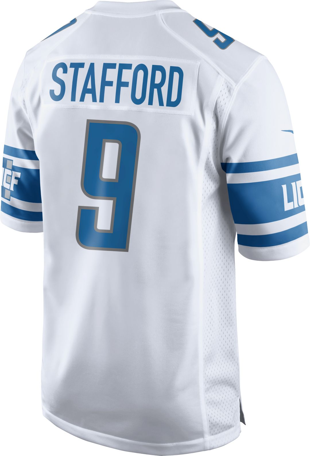 new product e25f0 1e169 Nike Men's Away Game Jersey Detroit Lions Matthew Stafford #9