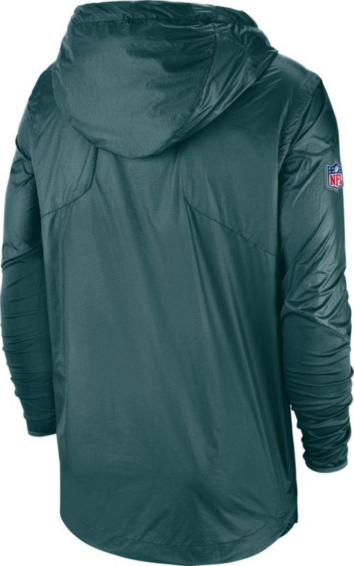 Nike Men s Philadelphia Eagles Sideline Fly Rush Green Jacket ... c7ea69681