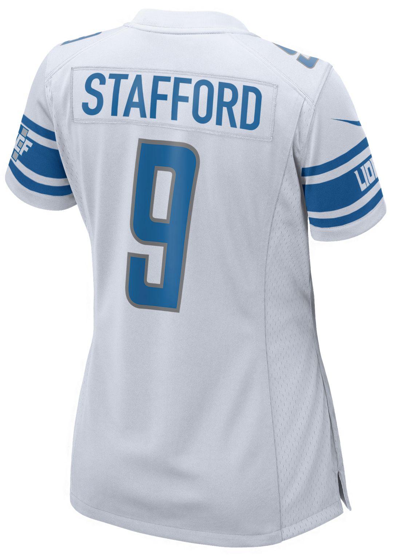 cheap for discount 03231 b57e0 Nike Women's Away Game Jersey Detroit Lions Matthew Stafford #9