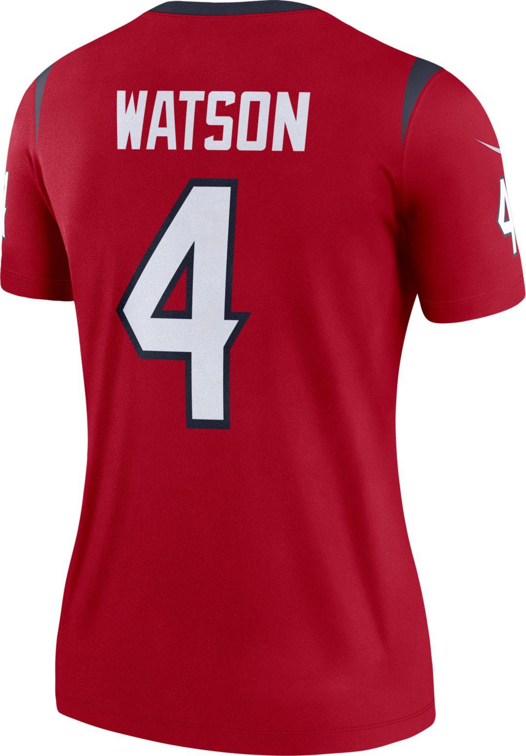 los angeles 5fbe3 83b63 Nike Women's Home Legend Jersey Houston Texans Deshaun Watson #4