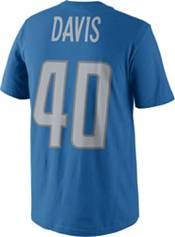 Nike Men's Detroit Lions Jarrad Davis #40 Pride Blue T-Shirt product image