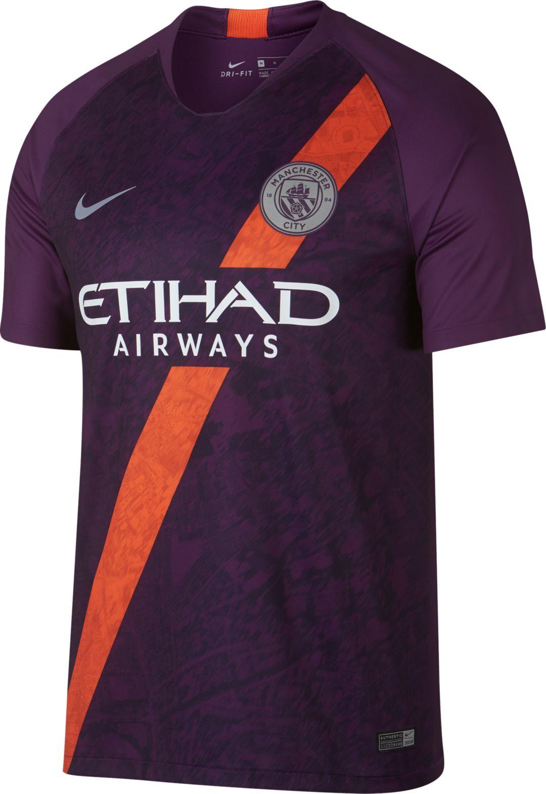 quality design 57a39 de813 Nike Men's Manchester City 2018 Breathe Stadium Third Replica Jersey