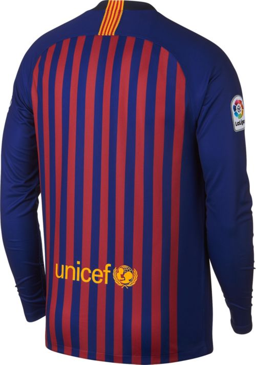 Nike Men s Barcelona FC 2018 Breathe Stadium Home Replica Long Sleeve Jersey.  noImageFound. Previous. 1. 2. 3 033a0fae14