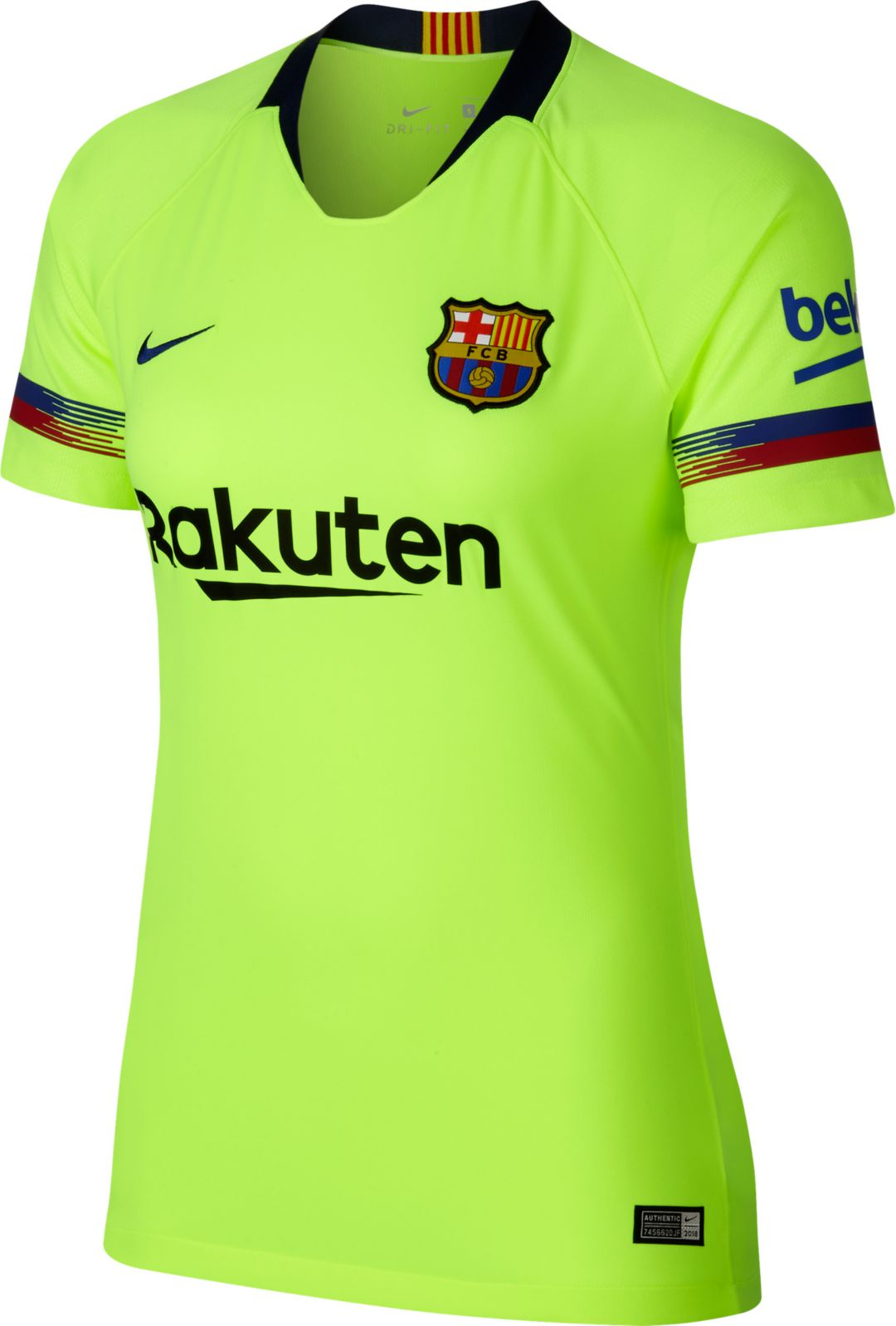 low priced ddbb1 16dbe Nike Women's Barcelona FC 2018 Breathe Stadium Away Replica Jersey