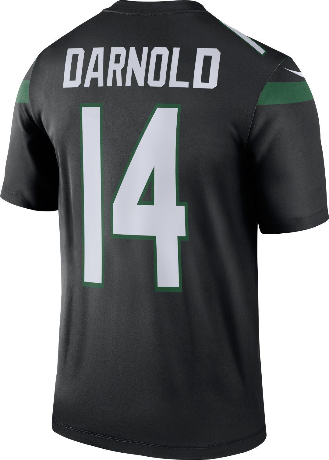 finest selection 5afe8 06e5f Nike Men's Color Rush Legend Black Jersey New York Jets Sam Darnold #14