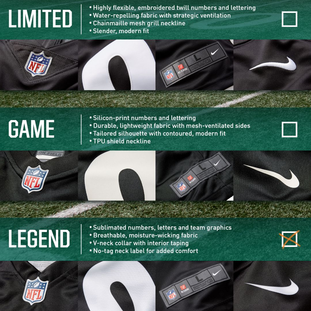 finest selection 8c83b 289f0 Nike Men's Color Rush Legend Black Jersey New York Jets Sam Darnold #14