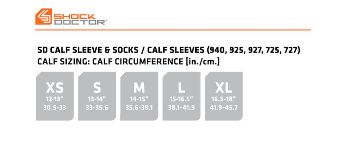 9b4434cebce4cb Shock Doctor Elite SVR Recovery Compression Calf Sleeves | DICK'S ...