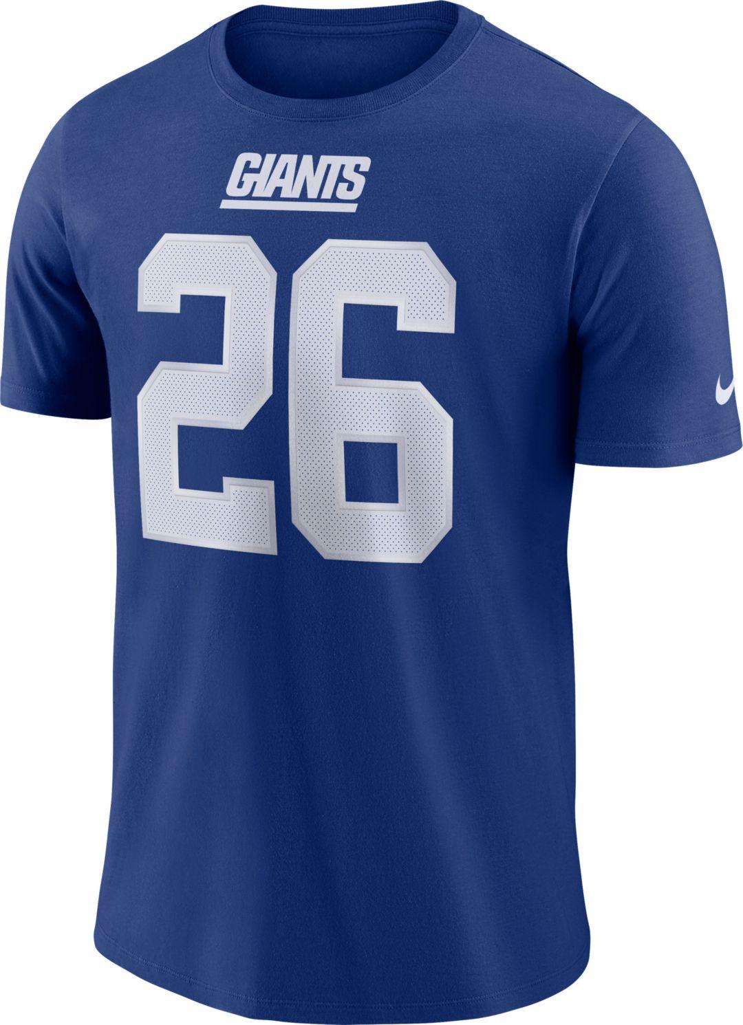 da159ded3a0 Saquon Barkley #26 Nike Men's New York Giants Pride Blue T-Shirt ...