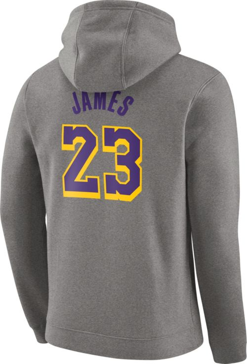 Nike Men s Los Angeles Lakers LeBron James Grey Pullover Hoodie.  noImageFound. Previous. 1. 2. 3 d5b5f4e2e