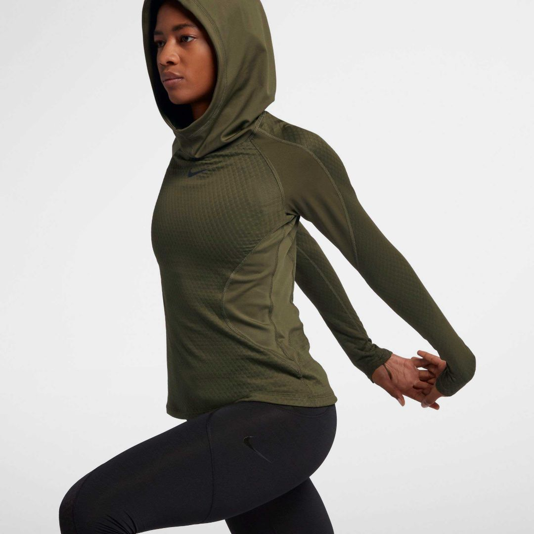 dc3210596 Nike Women's Pro HyperWarm Training Hoodie. noImageFound. Previous. 1. 2. 3
