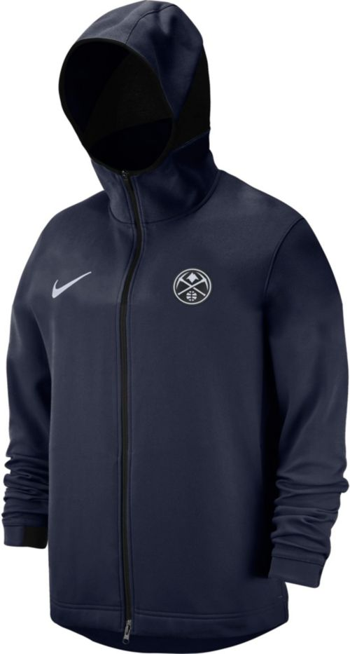 Nike Men s Denver Nuggets On-Court Dri-FIT Showtime Full-Zip Hoodie ... 86b1e07c2