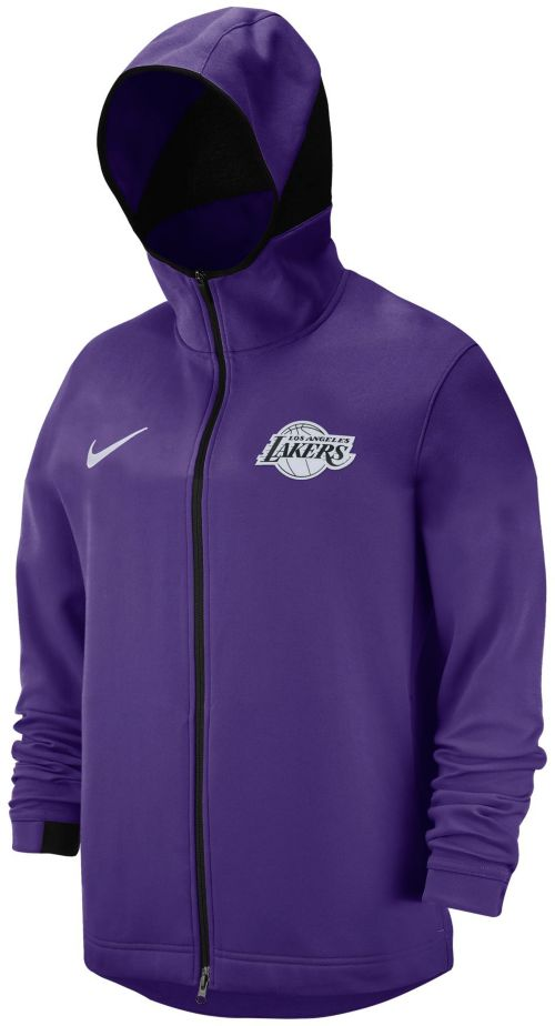 premium selection 43afe d9dd2 Nike Men s Los Angeles Lakers On-Court Dri-FIT Showtime Full-Zip ...